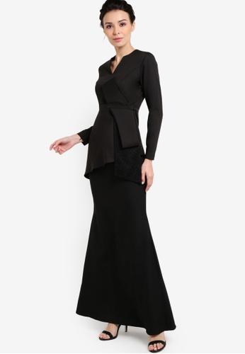Mermaid Luxe black Elegance Big Bow Modern Kebaya ME500AA71FQMMY_1