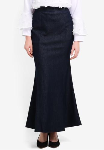 TOPGIRL blue Denim Mermaid Skirt TO597AA0RU4EMY_1