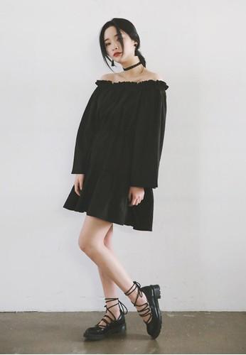 露肩束腰迷你洋裝, 服飾, 洋esprit台灣裝
