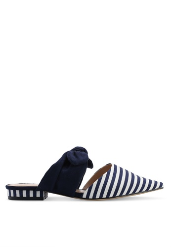 Nose 海軍藍色 條紋穆勒鞋 2E1C8SH6CF286EGS_1