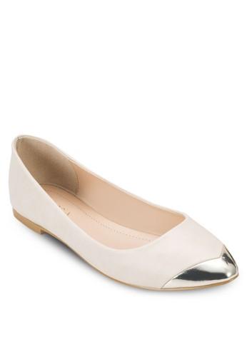 金屬飾尖頭平底鞋, 女鞋,esprit專櫃 鞋