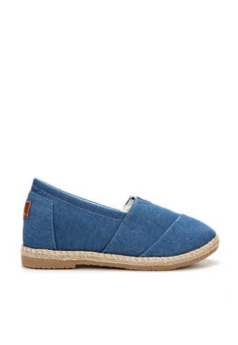 KissXXX 藍色 基本素色系列美腿效果5CM內增高帆布休閒鞋 KI603SH09MUJTW_1
