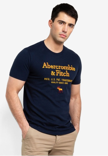 Abercrombie & Fitch 海軍藍色 Chinese New 年保固T恤 F70FEAACCFBDD4GS_1