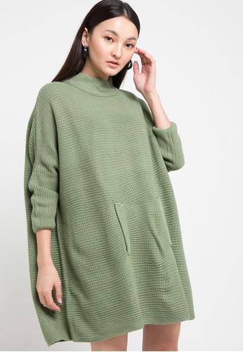 Noir Sur Blanc green Ladies Poncho B01F3AABF04EB6GS_1