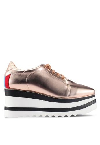 Twenty Eight Shoes gold Platform Wedge Derbies 10121SH135BDBDGS_1
