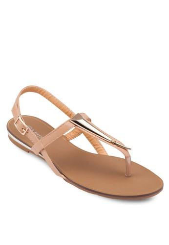 金飾價值繞踝平底esprit暢貨中心涼鞋, 女鞋, 涼鞋
