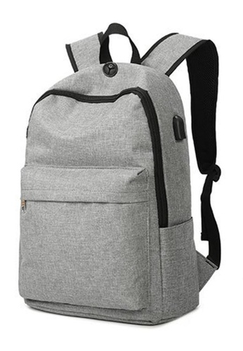 Jackbox grey Korean Fashion Ipad Laptop Bag USB Charging Port with Password  Lock Backpack 536 ( 32192358ff6fb