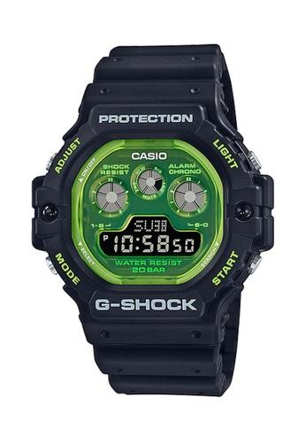 G-shock black and green CASIO G-SHOCK DW-5900TS-1 9819DAC4689CBEGS_1