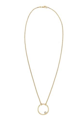 ELLI GERMANY gold Elli Germany Necklace Circle Basic Swarovski Crystal 925 Gold Plated Silver 0A868AC9A88B42GS_1