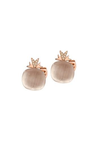 Morellato multi Gemma Earrings SAKK80 925 Silver Cat Eye Zircons RG PVD EBCBAACE01360DGS_1