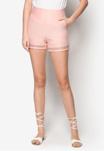 透膚網紗高腰短褲, 服飾zalora 衣服尺寸, 服飾