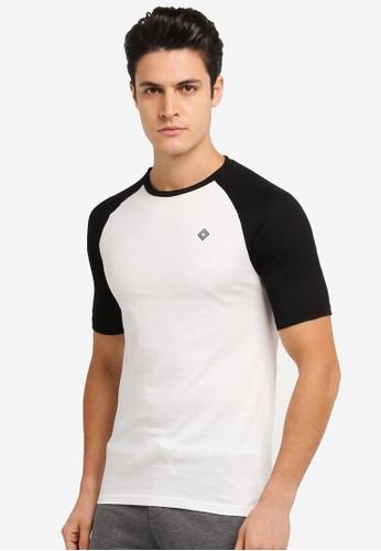 JAXON white and multi Short Sleeves Raglan Logo Tee C7DD0AA4F5B86FGS_1