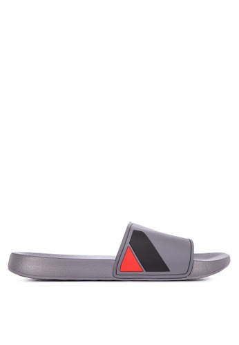 Penshoppe grey One Band Sliders 93D89SHCD0FDE3GS_1