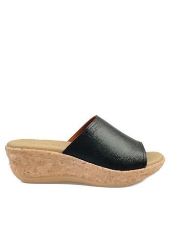 Beajove black Phoebe Wedges Sandals BE707SH47JDOID_1