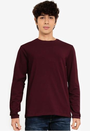 OVS red Plain Sweatshirt E4328AA07428B2GS_1