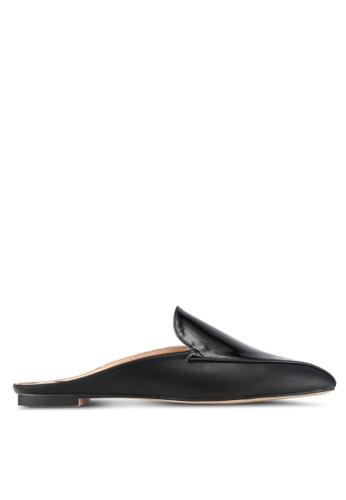 ZALORA black Faux Patent Leather Slip On Mules C3CB2SHD4117DBGS_1
