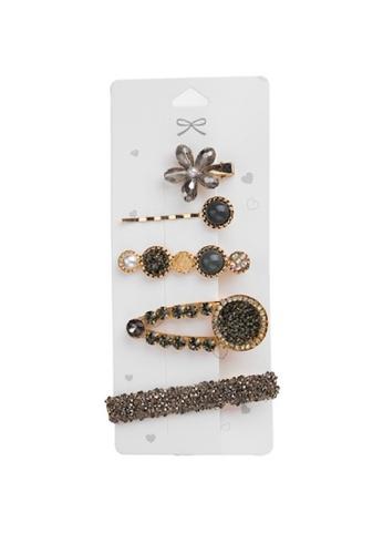 Glamorbit multi 7 In 1 Pearl and Multi Colour Hair Clips Set E20ACAC779798DGS_1
