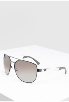 a803196b287d Emporio Armani black Emporio Armani EA2064 Sunglasses 9BAD5GLD6C309BGS 1