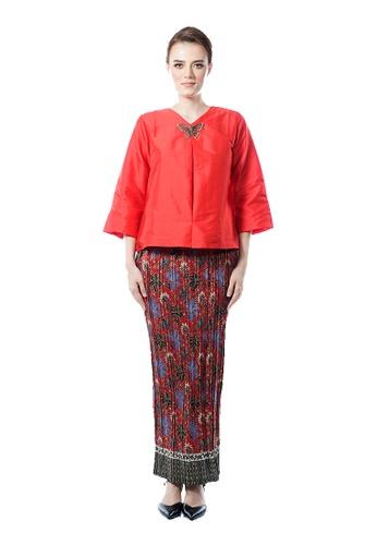 LARA NOUR red Fancy Blouse Sets F5813AA79CE70DGS_1
