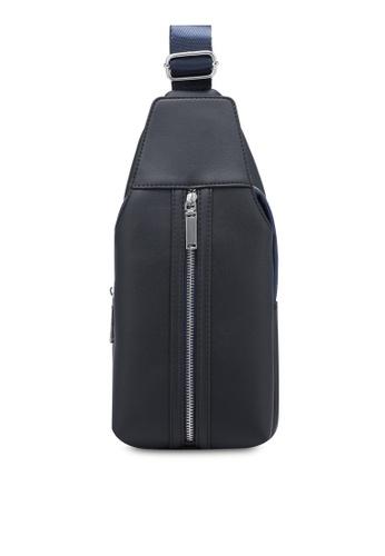 ZALORA navy Small Zip Detail Shoulder Bag 76025ZZ043AB7AGS_1