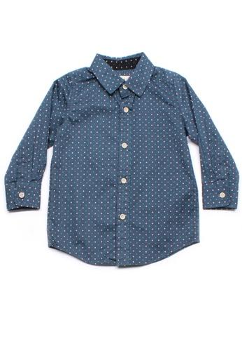 Mini Moley blue Digital Pixel Boy's Long Sleeve Shirt CBC03KA0472420GS_1