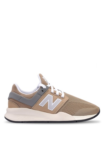 New Balance brown 247 Lifestyle Core Heritage Shoes 71A52SH8E8C974GS_1