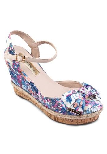 Flan 花色繞踝厚底涼鞋, 女鞋,zalora 心得 鞋