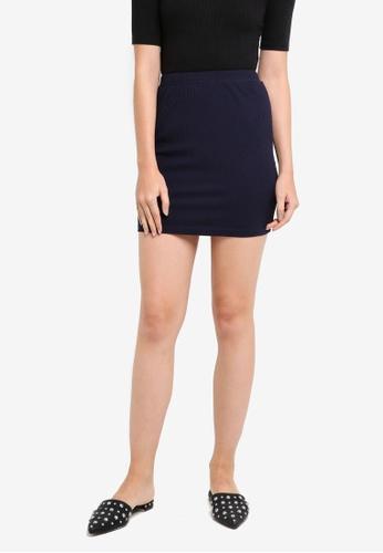 Something Borrowed navy Bodycon Mini Skirt B32A8AA0B7CE73GS_1