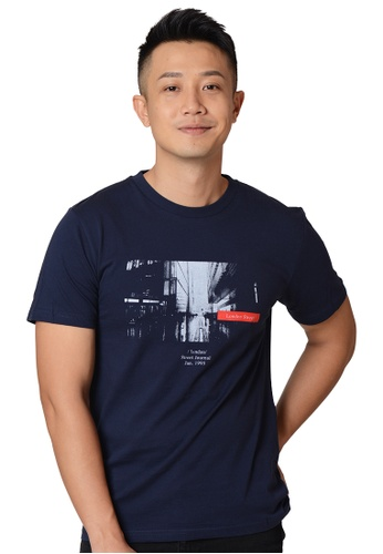 Praise navy London Street Graphic Tee 68318AA8A87D03GS_1