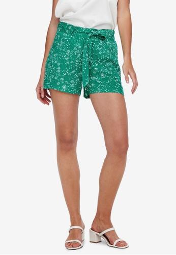 JACQUELINE DE YONG green Staar Shorts F461EAAE9DF5F4GS_1