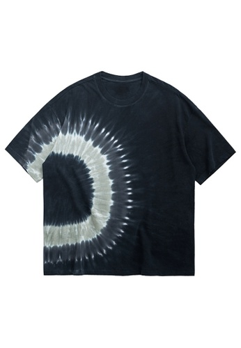 Twenty Eight Shoes Dark Spiral Tie-Dyed Oversize T-shirt 1230S20 D9337AA7F6F5ADGS_1