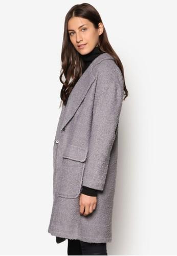 Collection 寬版仿羊毛大衣、 服飾、 外套ZALORACollection寬版仿羊毛大衣最新折價