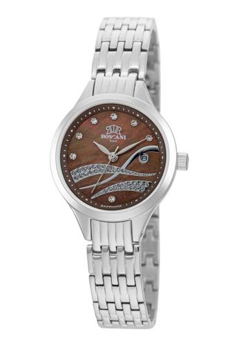 Roscani silver Roscani Leyla E18 (Mother of Pearl Dial + WR 5ATM) Stainless Steel Brown Bracelet Women Watch 19B65ACC26130EGS_1