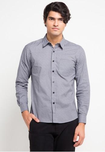 YEGE multi and grey Long Sleeve Modern Print Shirt YE201AA0V8YHID_1
