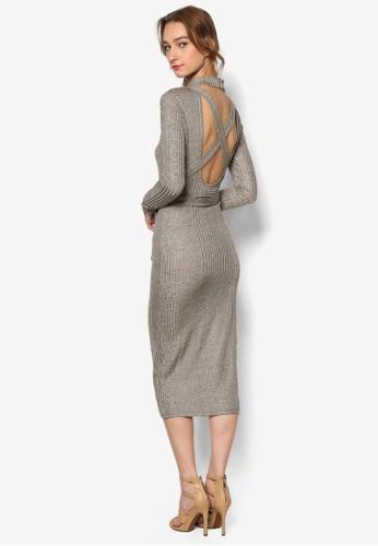 露背繫帶針織長袖連身裙, 服飾, esprit童裝門市服飾