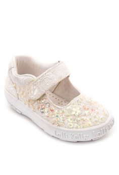 White Beaded Velcro