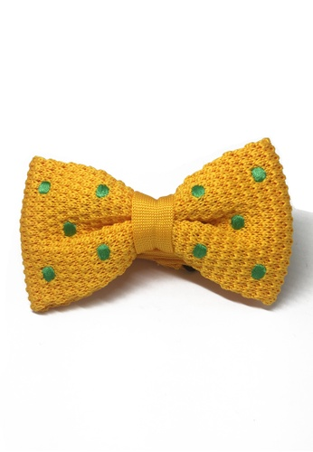 Splice Cufflinks orange Webbed Series Green Polka Dots Light Orange Knitted Bow Tie SP744AC11UAMSG_1