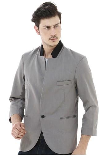 Crows Denim grey Crows Denim - Blazer Design Style Slim Fit Grey CR199AA74IKFID_1
