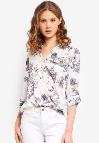 Wallis white Ivory Bird Print Shirt 15DCEAABD33FE3GS_1