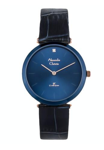 Alexandre Christie navy Alexandre Christie Jam Tangan Wanita - Blue Rosegold - Leather Strap - 8577 LHLURBU 890BDAC04A534CGS_1