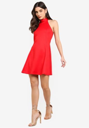 Buy MISSGUIDED High Neck Racer Skater Dress Online on ZALORA Singapore 4192065ab