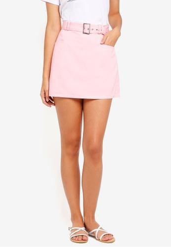 ZALORA pink Utility Skirt 9130DAAB569FA5GS_1