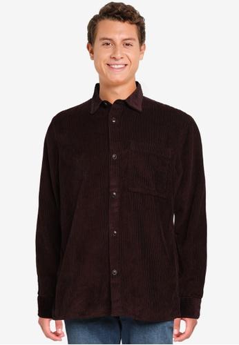Banana Republic red Organic Corduroy Shirt Jacket 428A5AACD8C6C5GS_1
