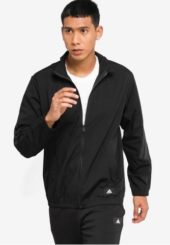 ADIDAS black adidas sportswear future icons woven track jacket D24A6AA86E78FCGS_1
