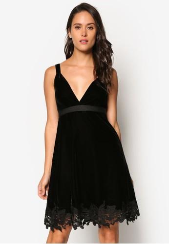 蕾絲下擺低胸洋裝, 服飾,esprit 尖沙咀 洋裝