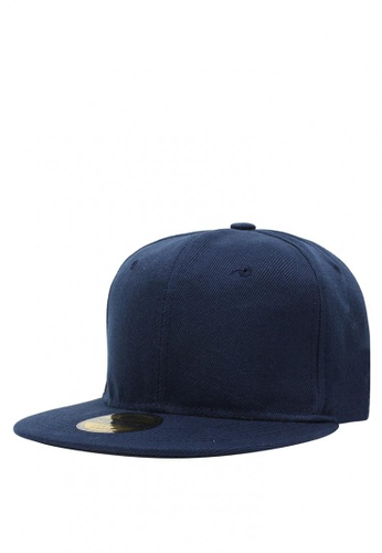 Cap City International blue Flat Brim Unisex Plain Blank Snapback Pure Cap  CA260AC0JJYNPH 1 0ffb313a5d6