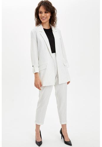 DeFacto 白色 Woman Trousers 585B1AAFE39124GS_1