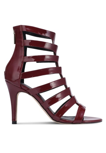Something Borrowed red Strappy Caged Heels 2002FZZ8D8944FGS_1