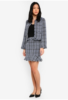 317943c343a2e 17% OFF ZALORA Tweed Jacket RM 179.00 NOW RM 148.90 Sizes M XL