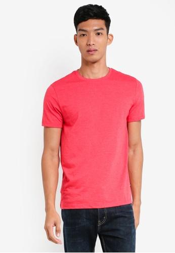 Burton Menswear London 紅色 圓領素色T恤 14373AA1F6BB84GS_1